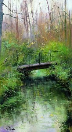 Gentle Reflection. Sergei Toutounov...living and working in France.