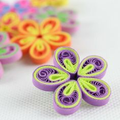 XXpc Mixed Color Paper Quilling Flower P004
