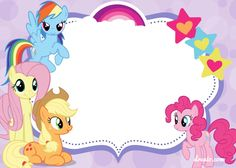 Download Now FREE Printable My Little Pony Birthday Invitation Template