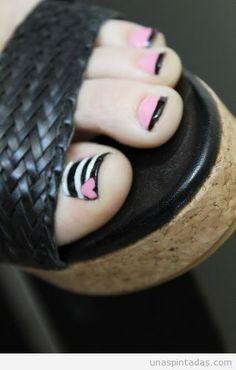 Decoración de uñas de los pies, pedicura creativa