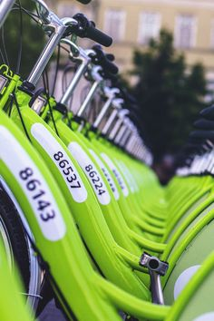 Free stock photo of pattern, public transportation, green, bike