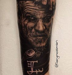 Check out this awesome Floki portrait from the TV show Vikings. Tattoo by @garymossman @garymossman FOLLOW ✌️