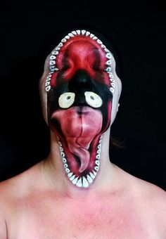 This artist's depiction of Halloween make-up is incredible!
