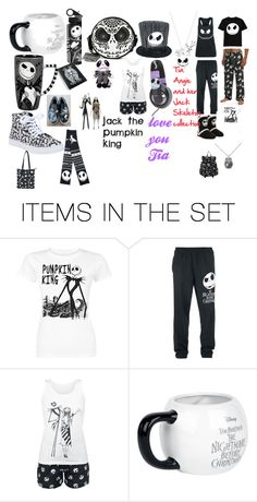 """To My Tia Angie and her Jack Skeleton collection"" by xochi-zavala on Polyvore featuring art"