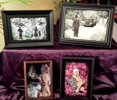 Framed mixed media on canvas