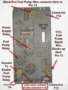 annotated relay board diagram for 73 porsche 914 for those of you who took a ride in this