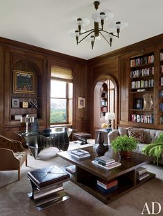 Traditional Office/Library by Shelton, Mindel & Associates in New York, New York