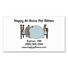 Sleeping puppy dog pet sitter business cards sleeping puppies pet sitter business card dog in bed colourmoves