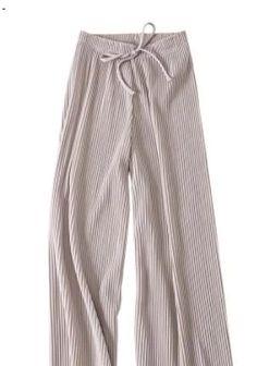 Wide-leg pants female summer sense high waist 2018 new Korean version of the wild nine pants loose Ankle Length, Wide Leg Pants, Pajama Pants, Korean, High Waist, Sweatpants, Leggings, Female, Type