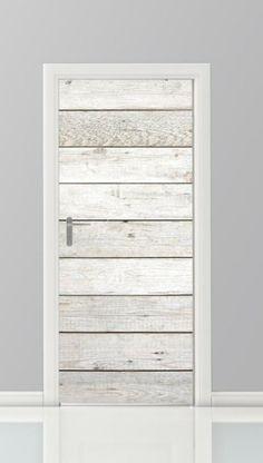 Leuke deursticker met steigerhoutenplankenprint. De nieuwste trend!