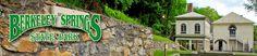 Berkeley Springs State Park = West Virginia.  Spa, Roman baths, outdoor swimming pool
