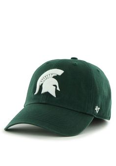 buy popular a387b ed0f1  47 Michigan State Spartans Mens Green 47 Franchise Fitted Hat, Green,  COTTON, Size L
