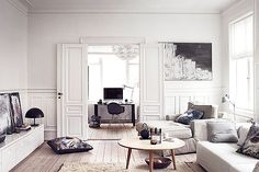 danish living (via A faded palette: A Danish apartment) (my ideal home. Living Room Interior, Home Interior, Home Living Room, Living Spaces, Danish Interior, Modern Interior, Interior Livingroom, Scandinavian Interior Design, Scandinavian Living