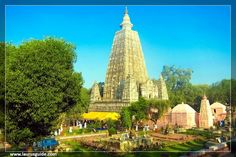 "The Mahabodhi Vihar (Literally: ""Great Awakening Temple""), a UNESCO World Heritage site, is a Buddhist temple in Bodh Gaya, marking the site where the Buddha had attained enlightenment in Bodh Gaya (located in. Gaya district) is located about 96 km (60 mi) from Patna, Bihar, India. The entire Mahabodhi Temple was the first temple built by Emperor Asoka in the 3rd century BC, and the present temple dates from the 5th-6th centuries."