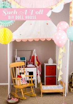 Such A Doll : DIY Child Size Doll House. Learn how to make this child sized doll house. It's easier than I thought!