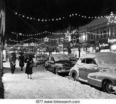 Snow Scenes 1940s | Beeld - 1940S, 1950S, winter, stad straat, scène, met, voetgangers ...