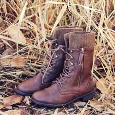 Heirloom Sweater Boots in Firewood, Sweet & Rugged boots from Spool No.72 | Spool No.72