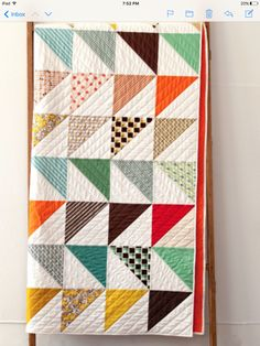 In This Corner - Denyse Schmidt Cute Quilts, Scrappy Quilts, Easy Quilts, Quilting Projects, Quilting Designs, Sewing Projects, Quilting Ideas, Vintage Modern Quilts, Plaid Patchwork