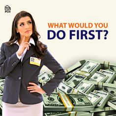 Pay bills? Make a charitable donation? What would YOU do first with a #PCH big check?