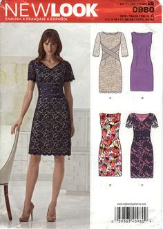 New Look 0980 Misses' Dress Six Sizes in One