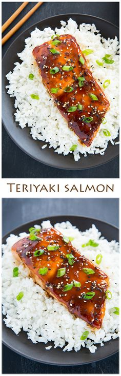Teriyaki Salmon - this salmon is so flavorful and delicious! The teriyaki sauce is great on chicken too!
