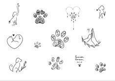 Amanda Fonseca on In Mini Tattoos, Small Dog Tattoos, Memorial Tattoos Small, Tattoos For Dog Lovers, Body Art Tattoos, Tribal Tattoos, Tattoos Skull, Small Remembrance Tattoos, Dove Tattoos