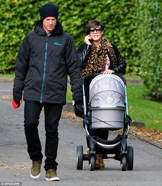 Welcome to the Park(er): New parents Frankie Sandford and Wayne Bridge give their baby boy his public debut