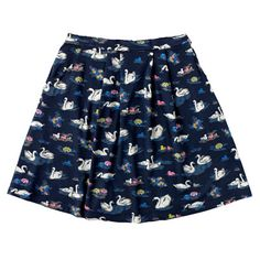 Swans Short Skirt
