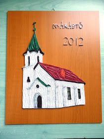 quilling templom / quilled church