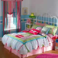LOVE the colors for a girl's room
