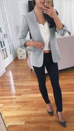 97 Best and stylish business casual work outfit for women - Biseyre - 97 . - 97 Best and Stylish Business Casual Work Outfit for Women – Biseyre – 97 Best and Stylish Busin - Business Casual Outfits For Work, Stylish Work Outfits, Smart Casual Outfit, Casual Work Outfits, Winter Outfits For Work, Mode Outfits, Work Casual, Outfit Work, Women Business Casual