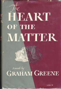 The Heart Of The Matter (Signed), Greene, Graham Reading Library, Reading Art, Library Books, Reading Lists, Our Man In Havana, Graham Greene, Vintage Book Covers, Classic Literature, Book Cover Art