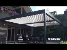 Pergola Open Démo 1 - Walter Stores & Volets- Marquises - YouTube
