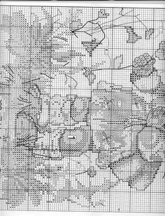 """The Little Flower Girl"" Hummel cross stitch  -  pattern 1B"