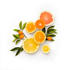 art prints photo orange lemon grapefruit studio photography - Citric Splash No. 1 by Splendid Supply Co.