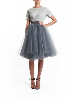 Charcoal Grey Tulle Skirt.                                                                                                                                                                                 More
