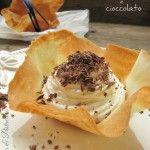 Cialde dolci mascarpone e cioccolato