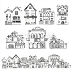 houses - would be a cute border for a city trip page