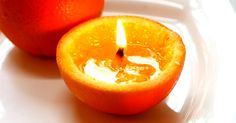 It is so easy to make a DIY organic candle using an orange. Come and check how to make a candle using an orange. Organic Candles, Home Hacks, Cleaning Hacks, Upcycle, Candle Holders, Sweet Home, Diy, Orange, Fruit