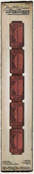 Sizzix - Tim Holtz - Sizzlits Decorative Strip Die - Alterations Collection - Die Cutting Template - Ticket Strip at Scrapbook.com $16.99