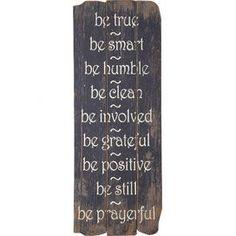 Be True Wall Decor
