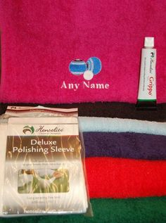 Lawn Bowls Personalised Towel Polishing Sleeve Grippo/Winwax/Gripit Gift Set