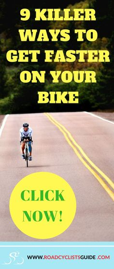 Get faster on your bike, increase your cycling speed!