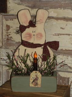 Bunny Box Decorated with Light and Berries