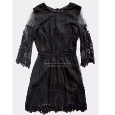 """DOLCE VITA Lace Dress Floral Embroidered Cocktail Size XS. New Without Tags. $275 Retail + Tax.   Voile dress with embroidery.  3 button snap closure at back.  Lined skirt, unlined bodice.  Cotton, silk, poly.   Measurements for XS: Length: 36"""" Bust: 32"""" Waist: 25"""" Sleeve: 20""""    ❗️ Please - no trades, PP, holds, or Modeling.    Bundle 2+ items for a 20% discount!    Stop by my closet for even more items from this brand!  ✔️ Items are priced to sell, however reasonable offers will be…"""