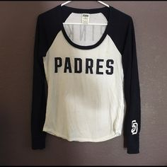 San Diego Padres PINK shirt Victoria's Secret San Diego Padres shirt. It's in ok condition, few stains but not really noticeable PINK Victoria's Secret Tops Tees - Long Sleeve