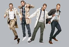 """Today's trench is streamlined, stops just above the knee, and works with everything from dark denim to a suit. """"Wearability, packability, and durability are just as important as the look,"""" says Durand Guion, vice president and men's fashion director at Macy's. The lightweight Allegri trench coat folds down to the size of a small paperback book."""
