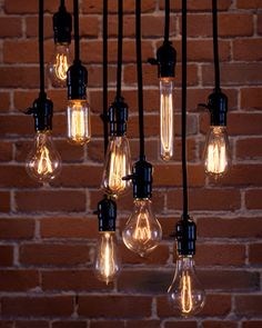THE LIGHTING: edison bulbs