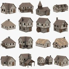 medieval houses 3d max - medieval houses... by 3DMB