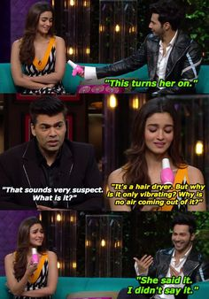 Varun's general knowledge is no better than Alia's.